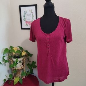 Mudd Round Neck Short Sleeve Top Size Medium